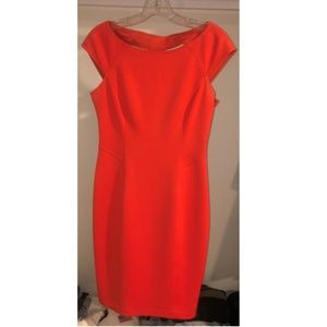 Maggy London knee length red dress